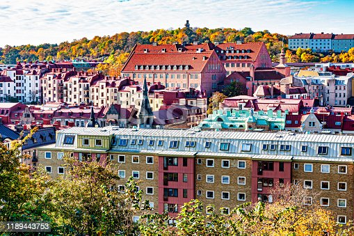 Gothenburg, Sweden overview of Haga