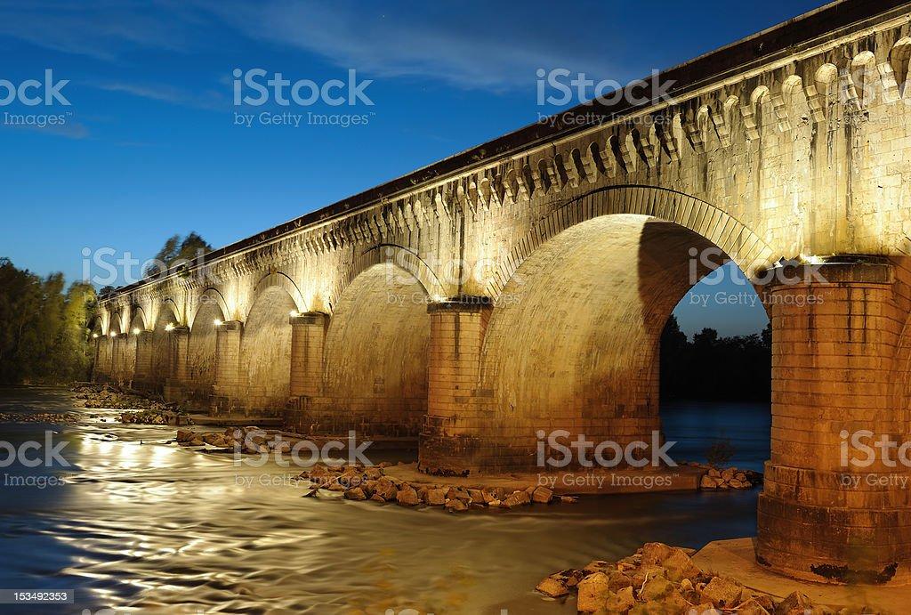 Canal-bridge stock photo