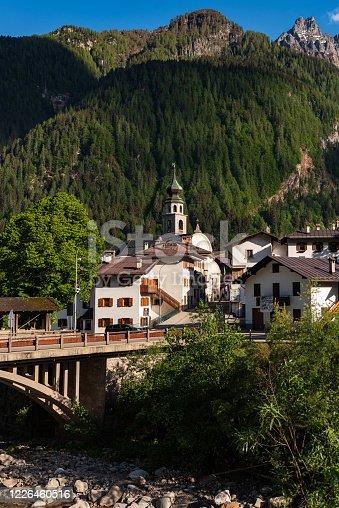 Canale d'Agordo - paese natale di papa Albino Luciani, (Giovanni Paolo I) e fiume Biois