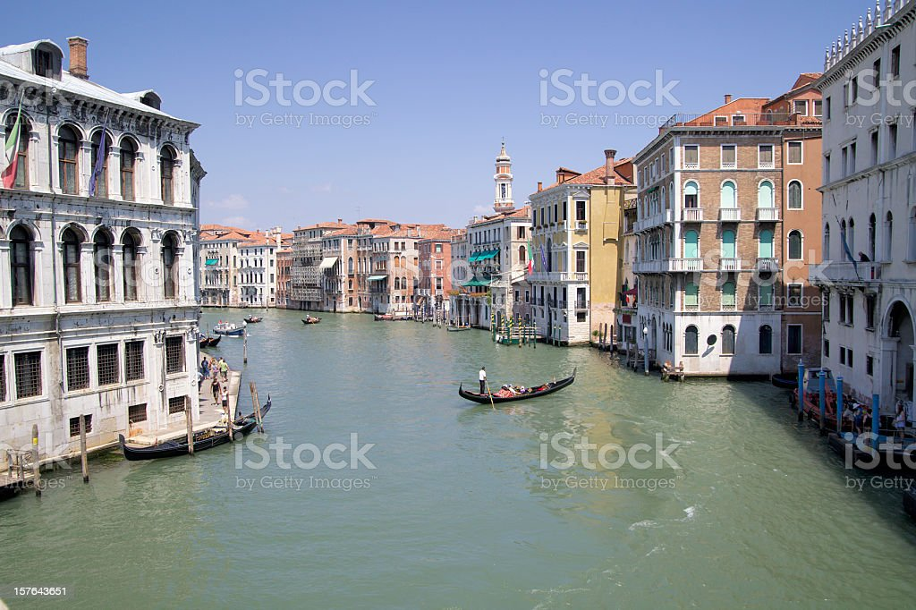 canale grande with gondola royalty-free stock photo