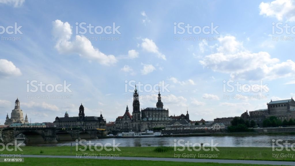 Canaletto View Dresden stock photo