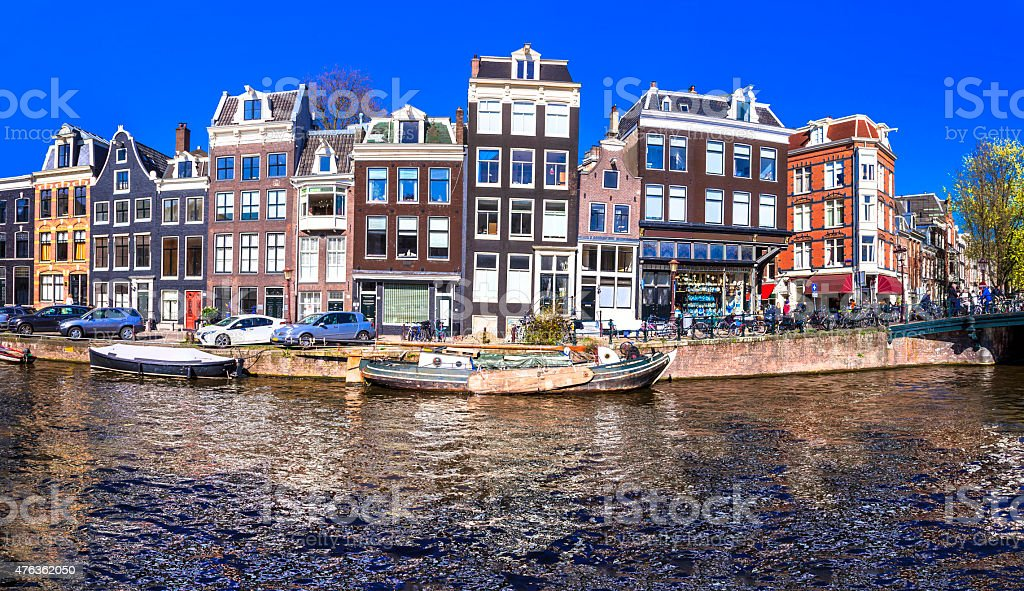 Canals Beautiful Amsterdam,Netherlands stock photo