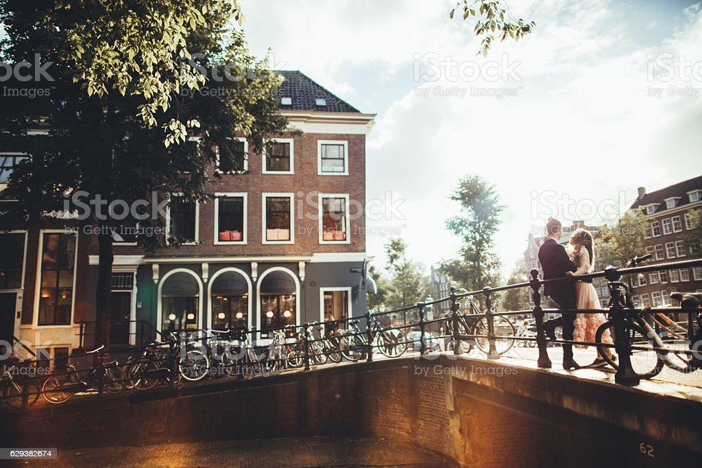 Каналы Амстердама стоковое фото