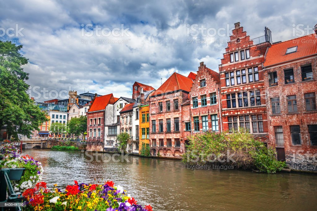 Grachten van Brugge, België foto