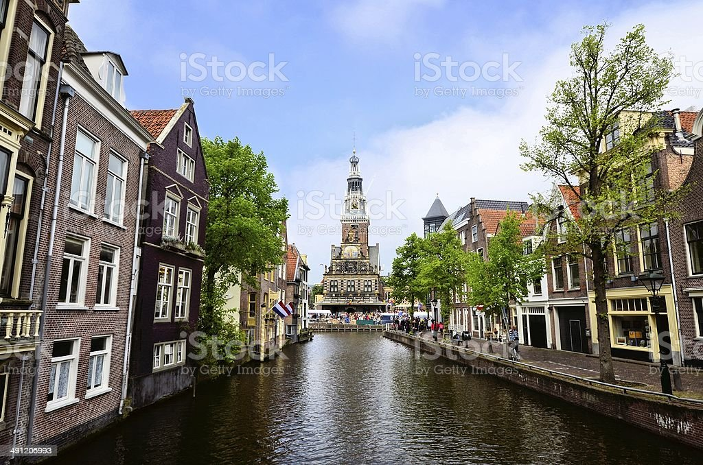 Canals of the Netherlands stock photo