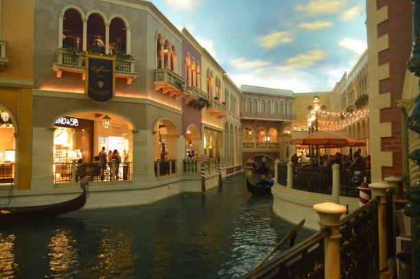 Kanäle von Venedig innen Venetian Hotel am Las Vegas Strip. Reisen Urlaub – Foto