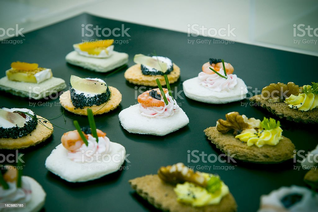 canape and appetizer royalty-free stock photo
