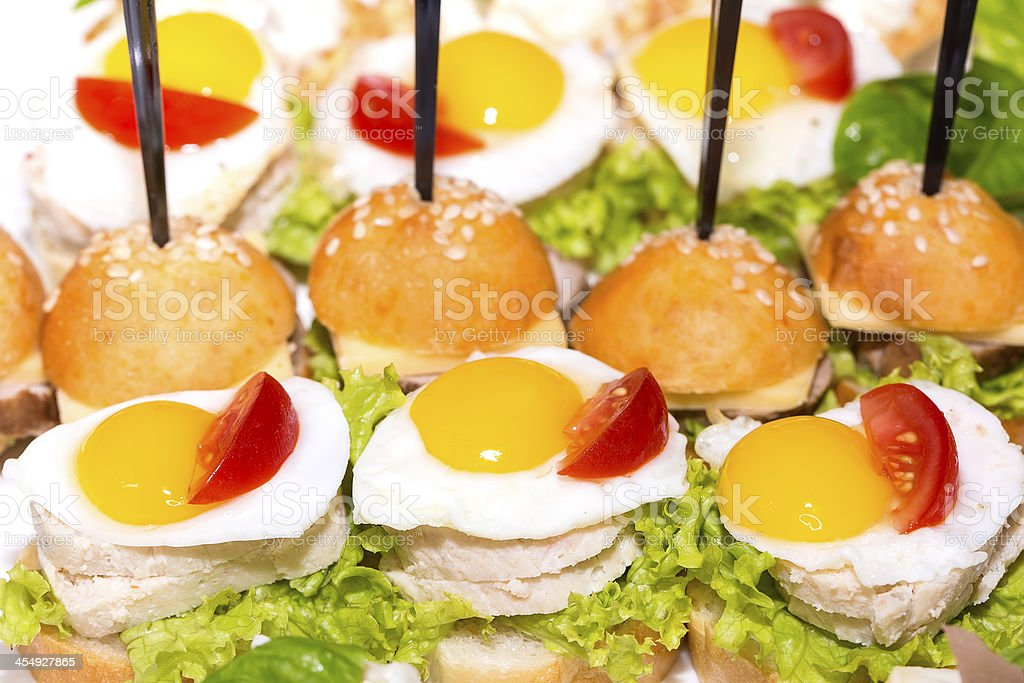 canape with meat royalty-free stock photo