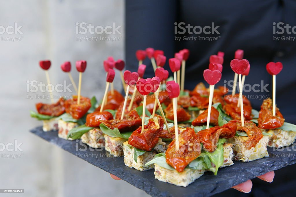 Canapes stock photo