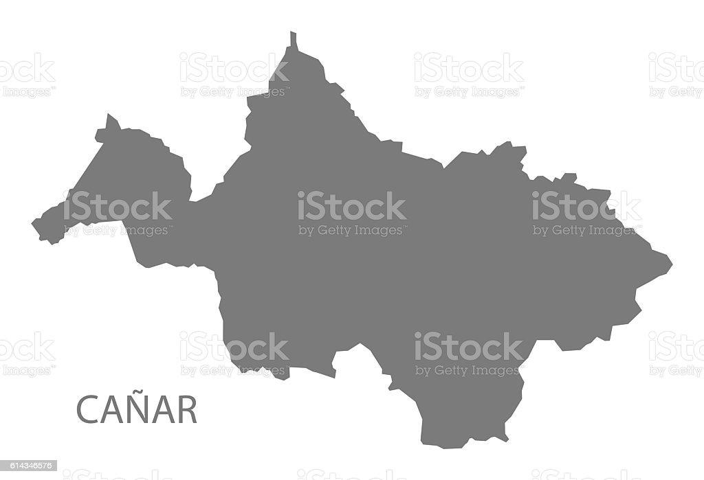 Canar Ecuador Map grey stock photo