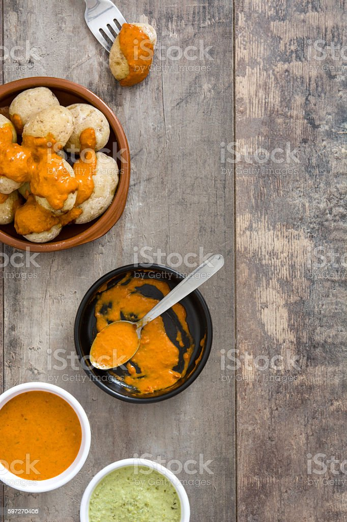 Canarian potatoes royalty-free stock photo