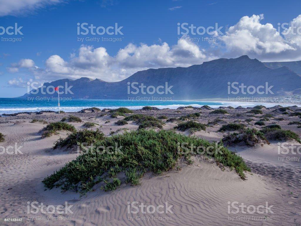Canary Islands - Lanzarote - Famara beach stock photo