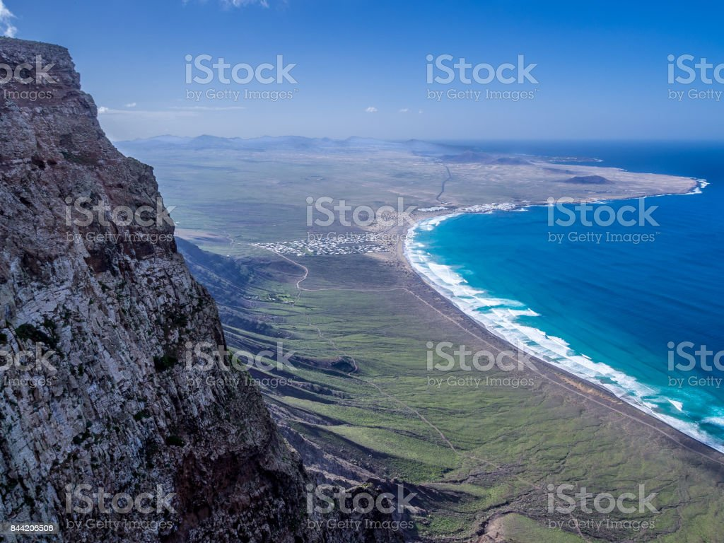 Canary Islands - Lanzarote - Famara cliffs stock photo