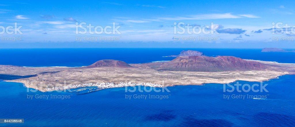 Canary Islands - Lanzarote - La Graciosa island stock photo