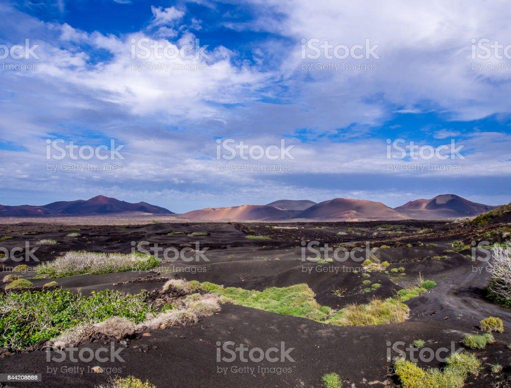 Canary Islands - Lanzarote - Montanas del Fuego in Timanfaya national park stock photo