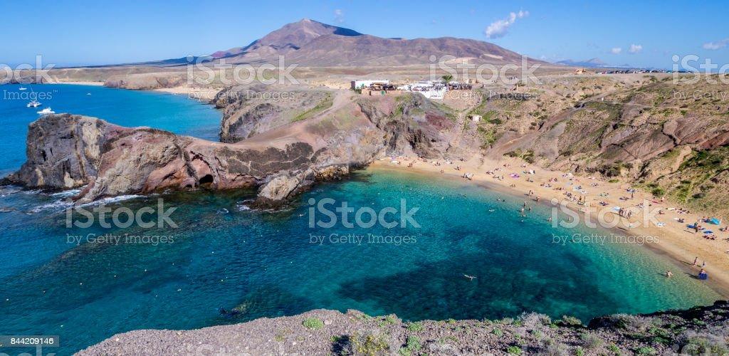 Canary Islands - Lanzarote - Papagayo beach stock photo