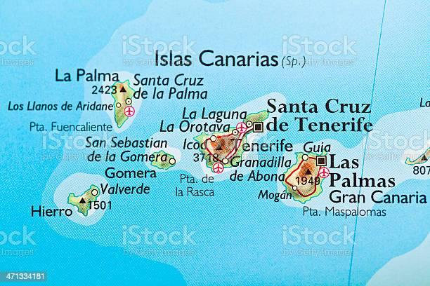 Spagna E Canarie Cartina.Isole Canarie Spagna Mappa Fotografie Stock E Altre Immagini Di Carta Geografica Istock