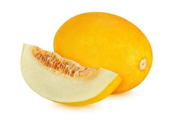 melon de canari d'isolement sur le fond blanc - canari photos et images de collection