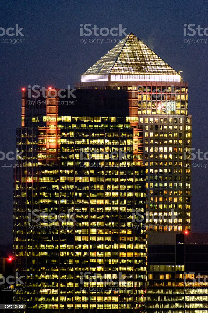 Canary Wharf and 8 Canada square stock photo