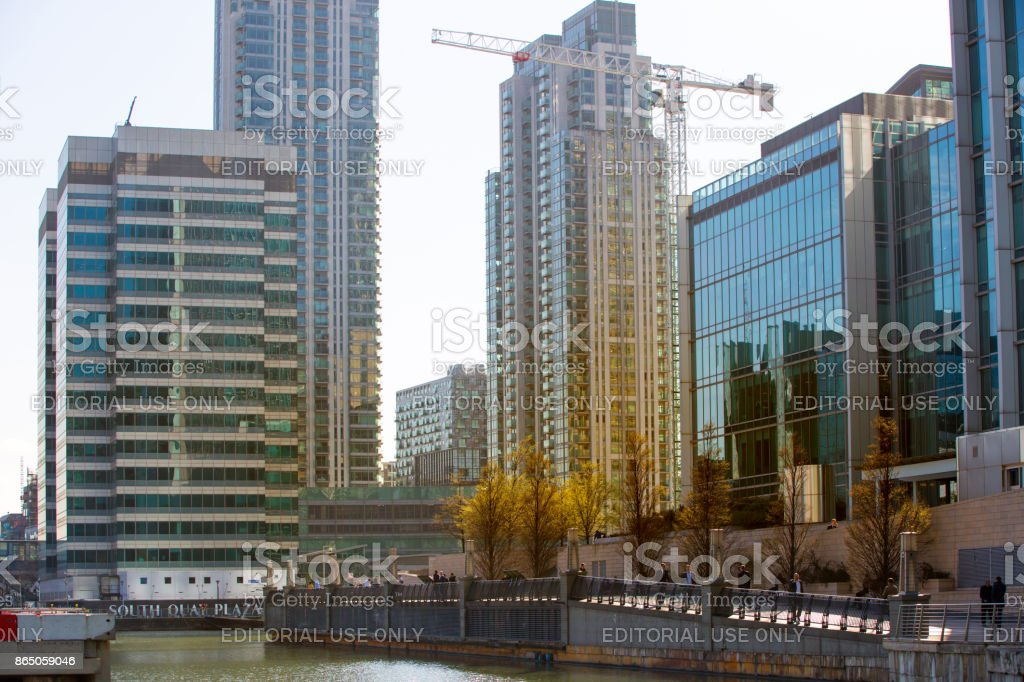 Canary Wharf building site. London, UK stock photo