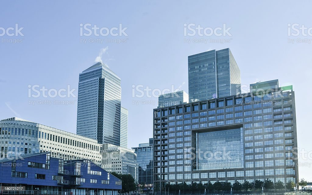 Canary Wharf Business District stock photo
