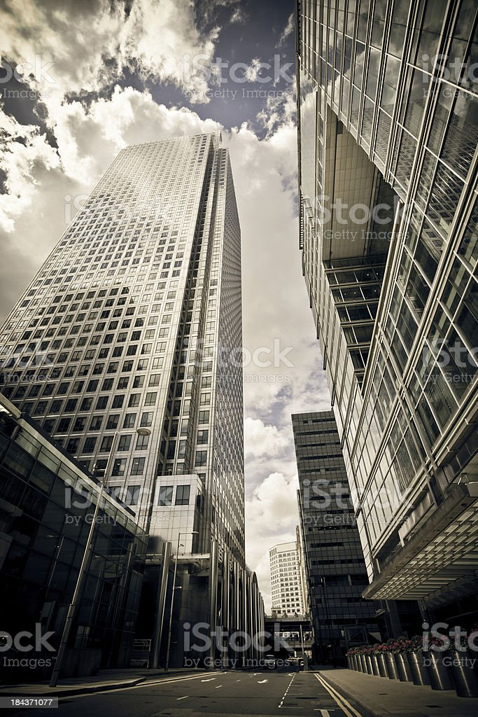 Canary Wharf Business District royalty-free stock photo