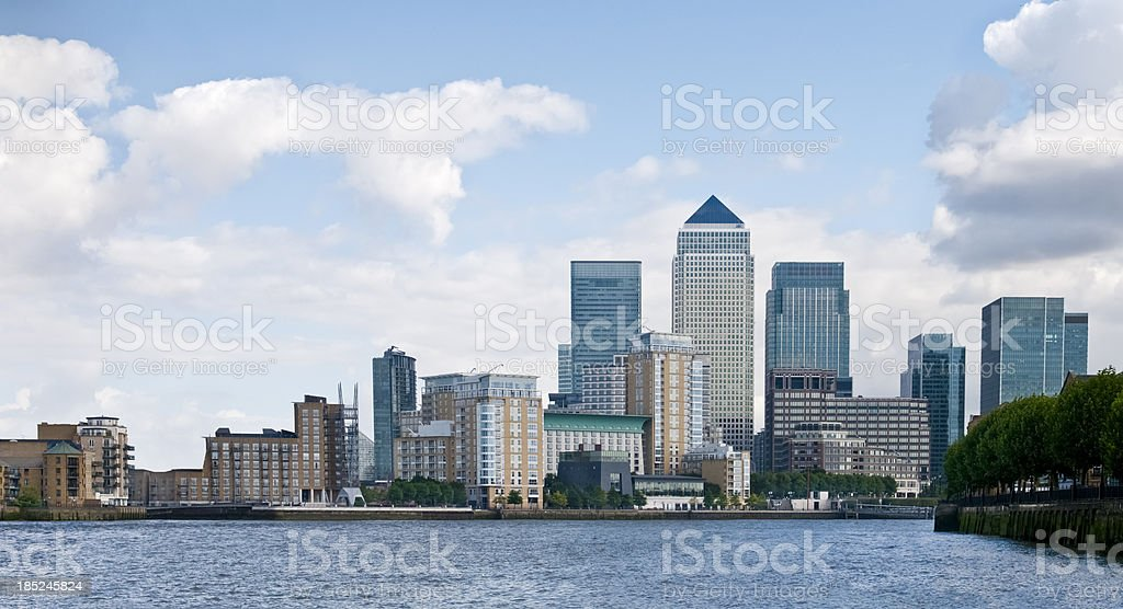 Canary Wharf Cityscape stock photo