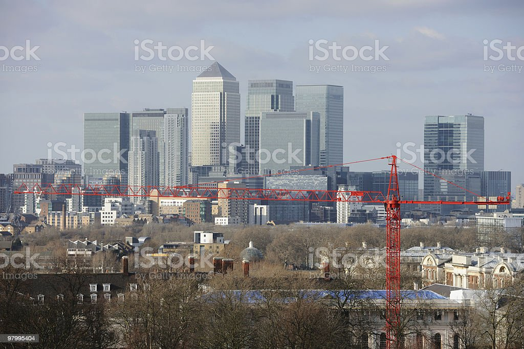 Canary Wharf, financial business district in London, England, UK, Europe stock photo