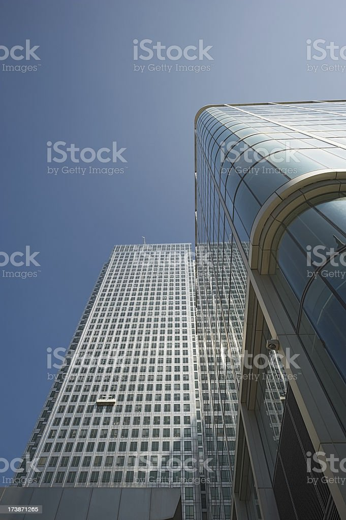 Canary Wharf financial center, London royalty-free stock photo