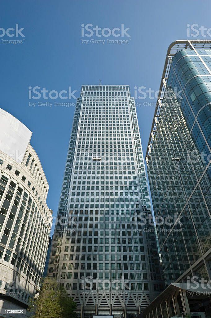 Canary Wharf financial center stock photo