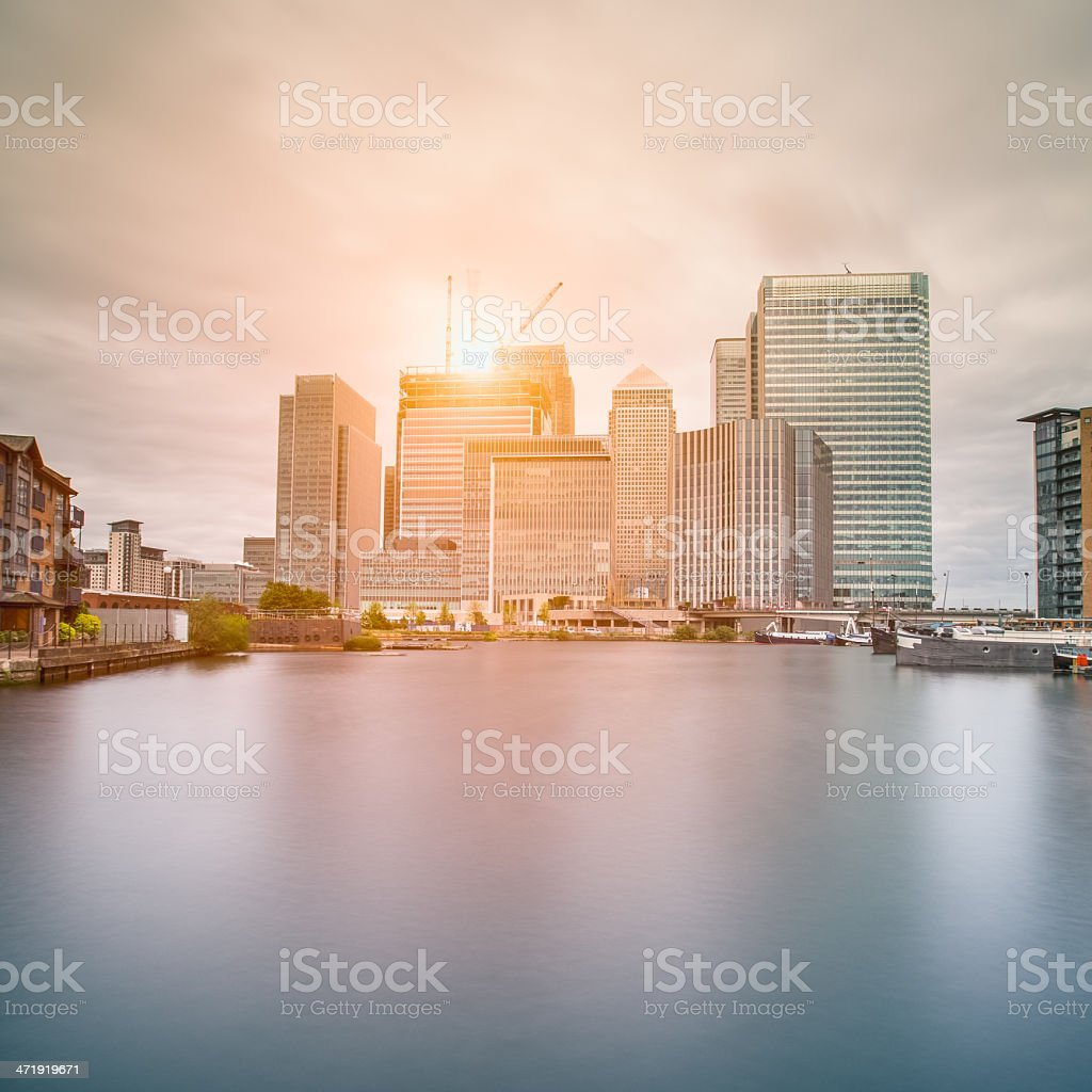 Canary Wharf financial centre stock photo
