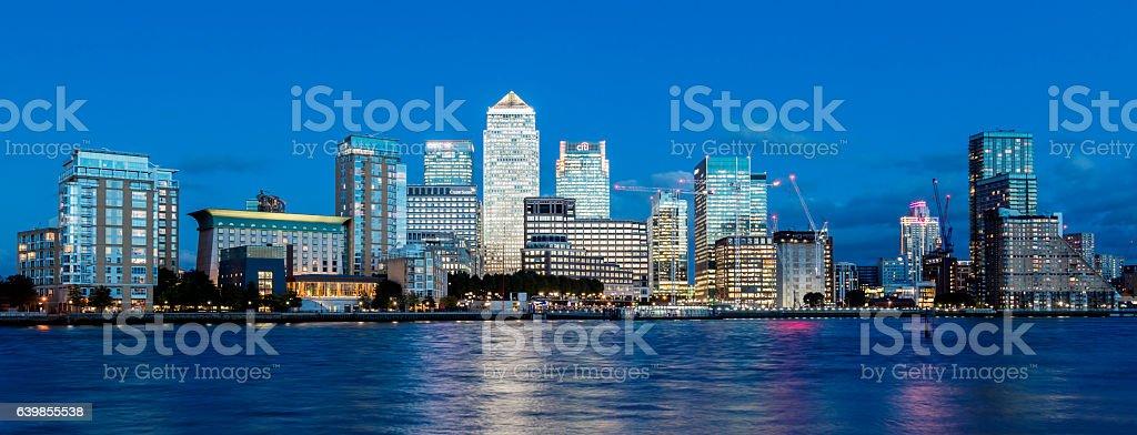 Canary Wharf Financial District, London, England stock photo