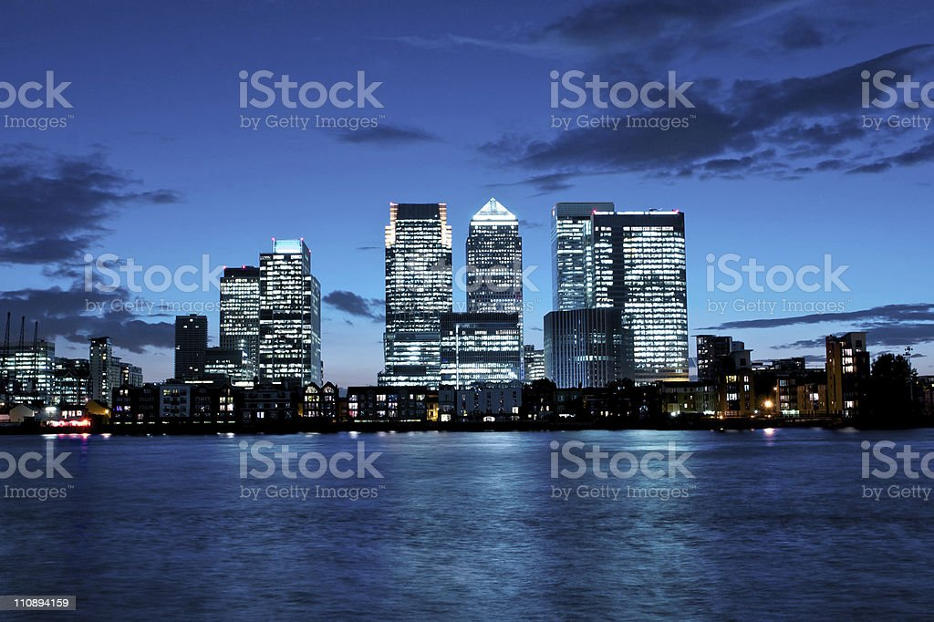 Canary Wharf financial district royalty-free stock photo