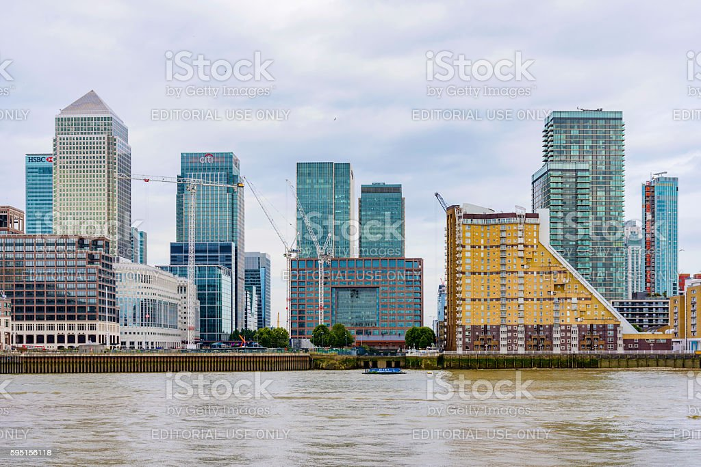 Canary wharf financial district stock photo