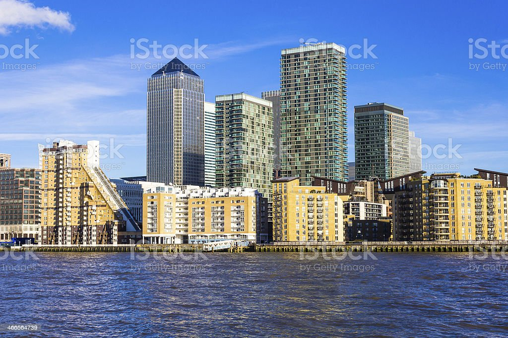 Canary Wharf from the West royalty-free stock photo