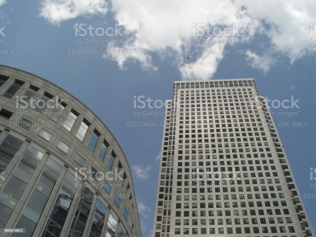 Canary Wharf heights - Royalty-free Air Vehicle Stock Photo