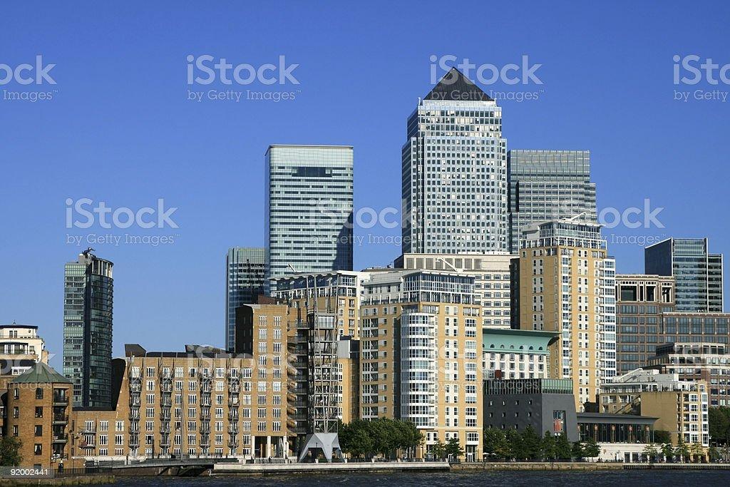 Canary Wharf in London, England royalty-free stock photo