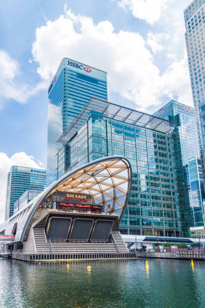 Canary Wharf in London London. 23 may 2019. The Big easy restaurant in Canary Wharf in London hsbc stock pictures, royalty-free photos & images
