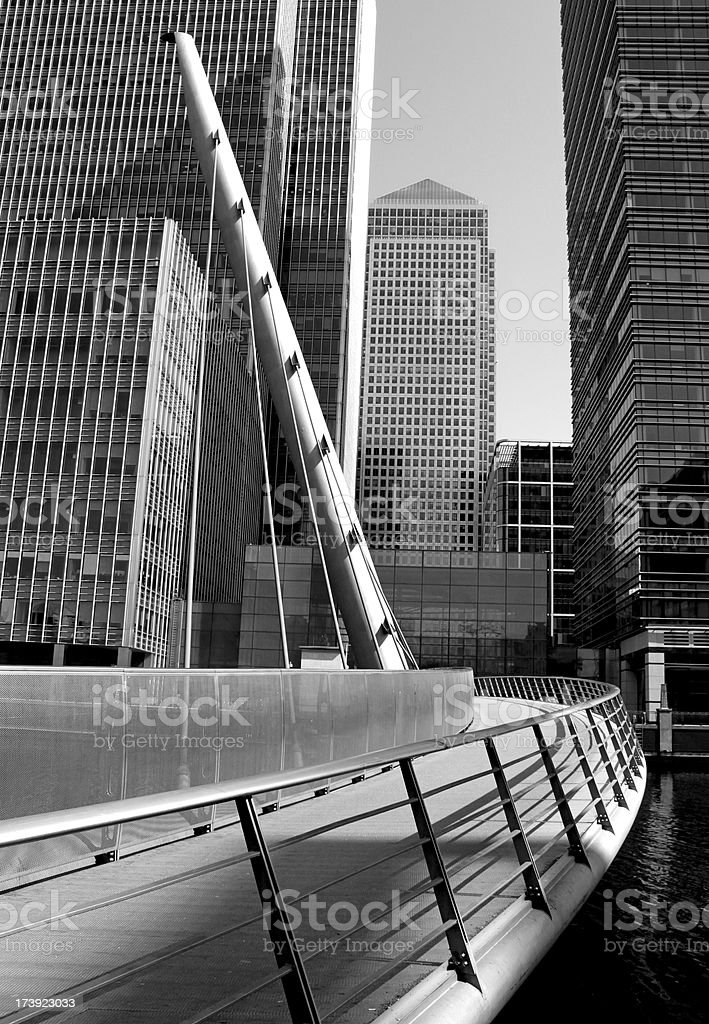 Canary Wharf in London royalty-free stock photo
