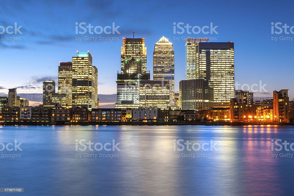 Canary Wharf, London, England stock photo