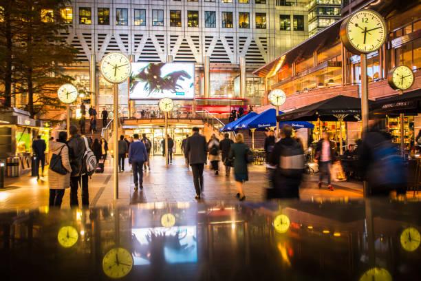 Canary Wharf, Londres - foto de stock