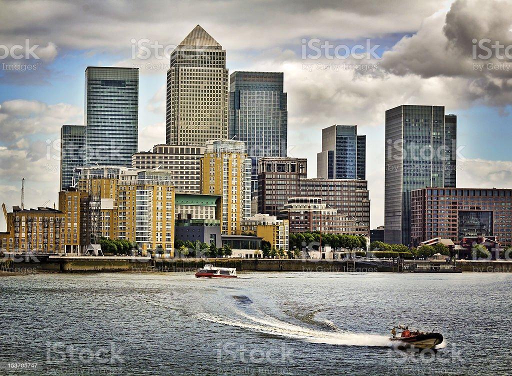 Canary Wharf, London stock photo