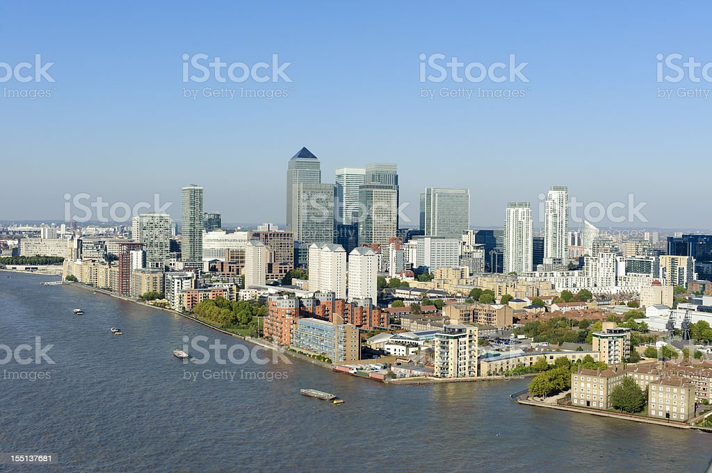Canary Wharf - London stock photo