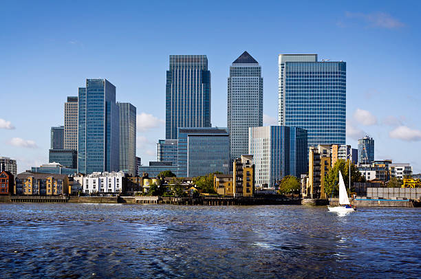 canary wharf, london - canary wharf stock-fotos und bilder