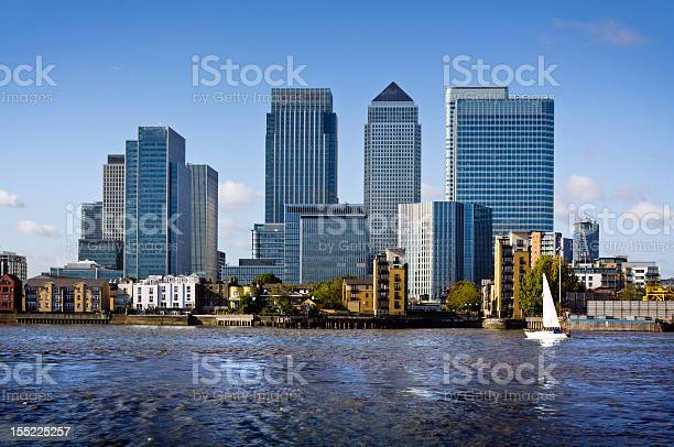 Canary Wharf view from Greenwich. This view includes