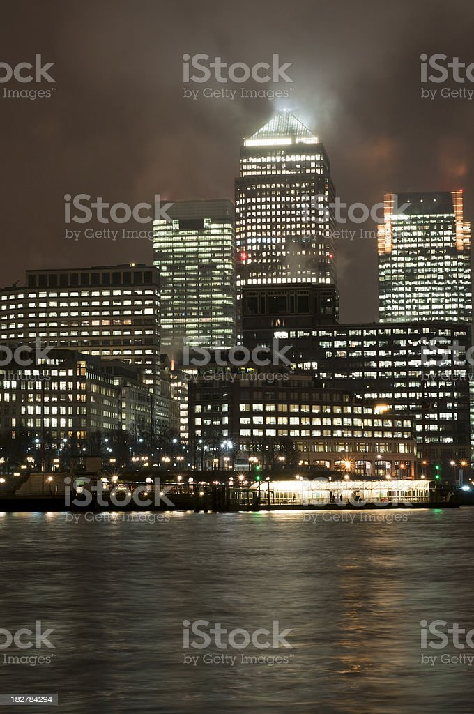 Canary Wharf, London royalty-free stock photo