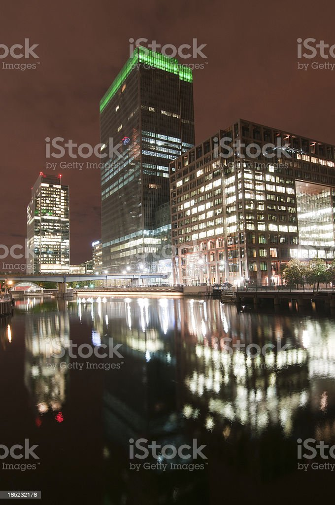 Canary Wharf, London royalty-free stock photo
