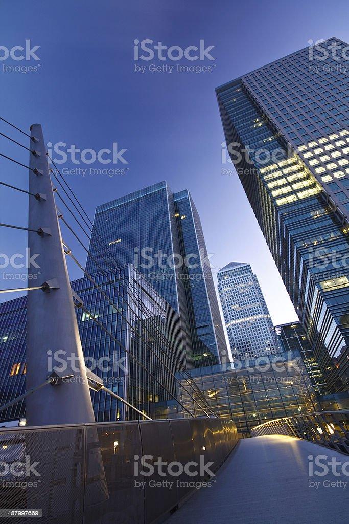 Canary Wharf, London. stock photo