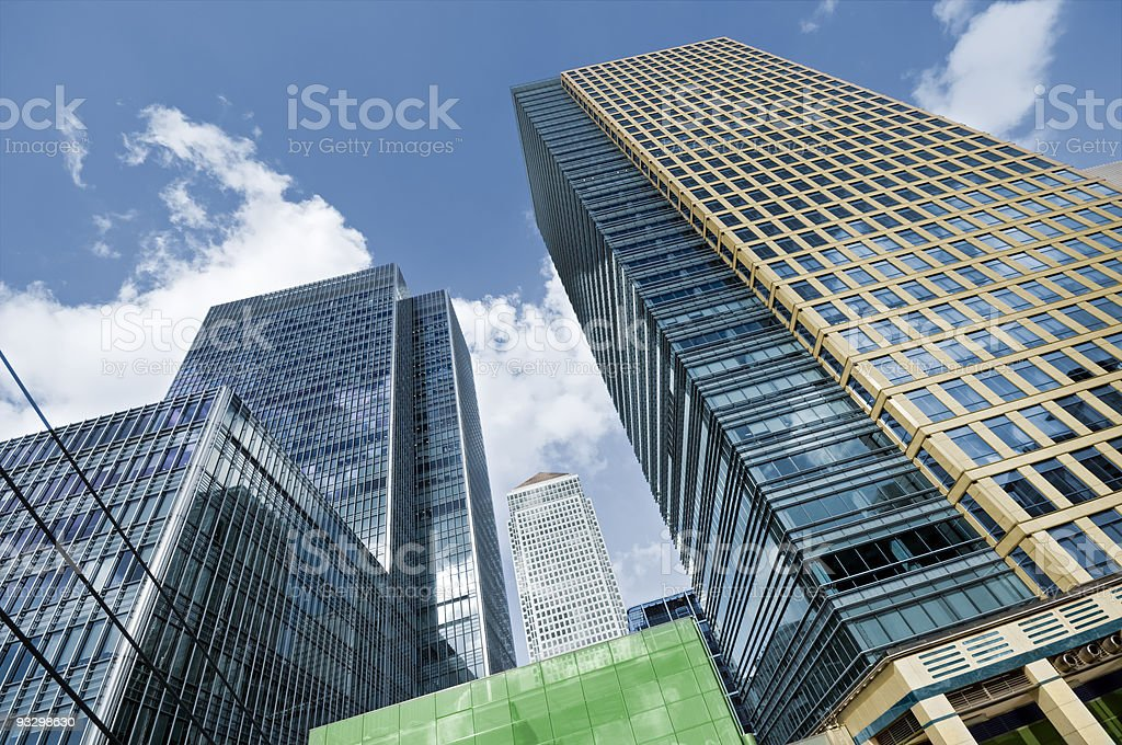 Canary Wharf, London. stock photo