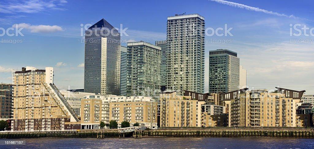 Canary Wharf, London, UK royalty-free stock photo